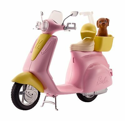 Barbie FRP56 Estate Mo-Ped Motorbike for Doll, Pink Scooter, Vehicle, Multi... .