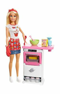 Barbie FHP57 Careers Baking Feature Doll and Playset Colourful Accessories,... .