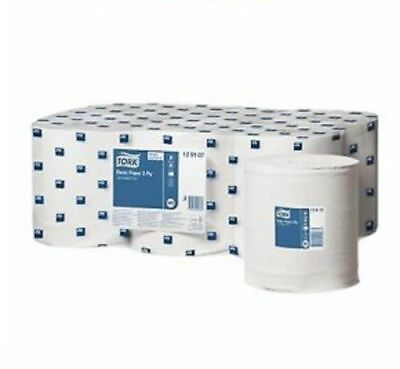 Tork M2 Wiping Paper Plus 2-Ply Multi-Purpose Centrefeed Roll 6 Pack White
