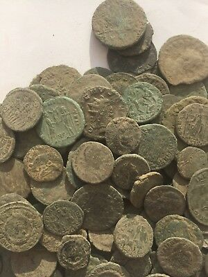 Good x 5 Random Picked Uncleaned Roman Bronze Coins 1st - 4th Cent