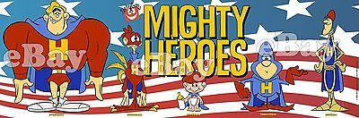 NEW!! EXTRA LARGE! MIGHTY HEROES Panoramic Photo Print TERRYTOONS Ralph Bakshi