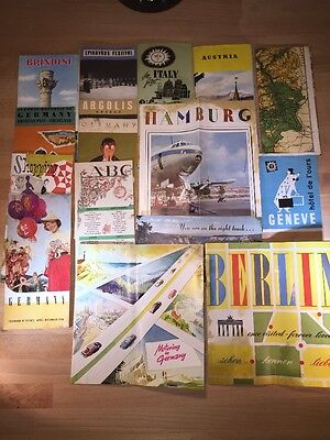 Lot of 16 VTG Central & Southern European Travel Brochures & Maps German Austria