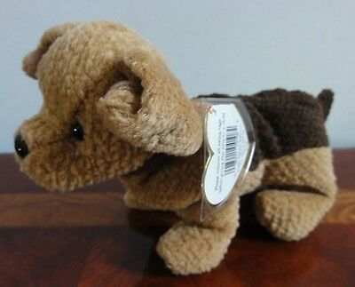 TY BEANIE BABIES BABY TUFFY the TERRIER BROWN DOG MWMT DOB OCTOBER 12 1996