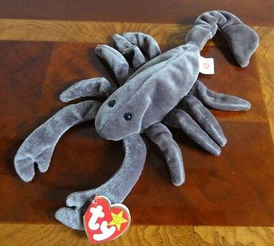 TY BEANIE BABIES BABY STINGER the SCORPION  MWMT DOB SEPTEMBER 29, 1997