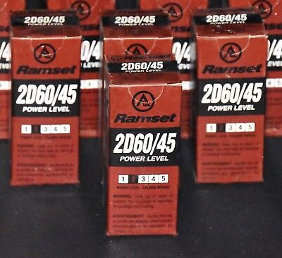 """Ramset 2D60/45 - Box of 100  #2  """"Brown""""  25 cal 10 Round Disc Loads **New**"""