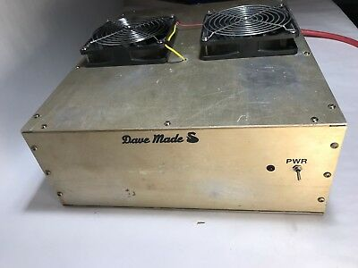 DAVE MADE BOX LINEAR w/ New Circuit Board for 8 transistors CW AMPLIFIER Amp