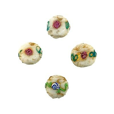 """(2335) Murano """"Fiorate"""" Glass Beads, late 19th c./early 20th c."""