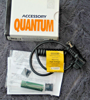 Quantum CCZ Turbo Flash Cable Short Fits Canon - New but damaged box