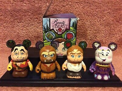 Disney Vinylmation Beauty and the Beast Set of 4 including Prince Adam chaser