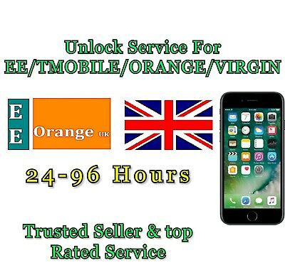 UNLOCK SERVICE Code For iPhone 8 8 plus  X Unlocking For EE ORANGE T-MOBILE UK
