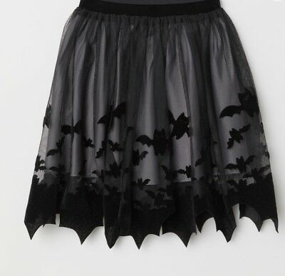 2295d1eee5 BRAND NEW W/TAGS* H&M Halloween Patterned Tulle Skirt Black (Girls 4 ...
