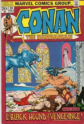 CONAN The Barbarian #20 Black Hound of Vengeance Barry Smith Art 1972