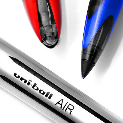 Uni-Ball AIR Pen 0.7mm Roller Ball Rollerball Black/Blue/Red Medium Tip Pens