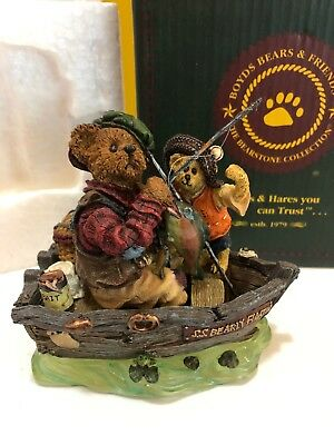 """Melville and Sonny..Mines Bigger than Yours"" Boyds Bears 227744 figurine fish"