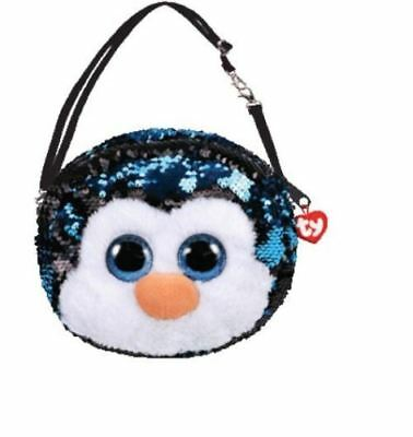 """Waddles Penguin Ty Sequin Purse Beanie Boos Fashion Plush figure 8"""" 6 ways to we"""