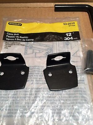 "Stanley 18/"" Cane Bolt 53-2531 Gate Fence Lock Slide L Bracket Zinc Plated NEW"