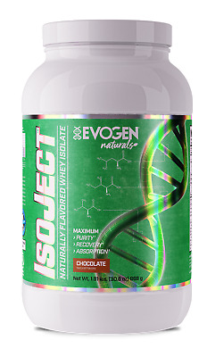 <NEW> EVOGEN NUTRITION ISOJECT NATURAL 28serving NATURALLY FLAVORED WHEY ISOLATE