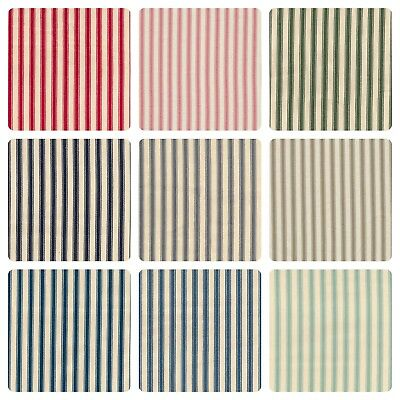 "100% Cotton Ticking Stripes Woven Soft Canvas - 10 Colours - 53"" (137cm) Wide"