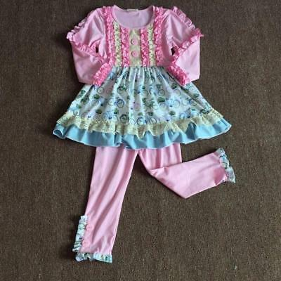 W-551 Boutique 2PC Pink Bike Outfit  (Ready to Ship From Ohio) Free Shipping