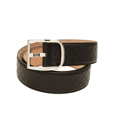 94b98edee24 GUCCI Men s Microguccissima Dark Brown Leather Belt 449716 Size 100 40 NWT