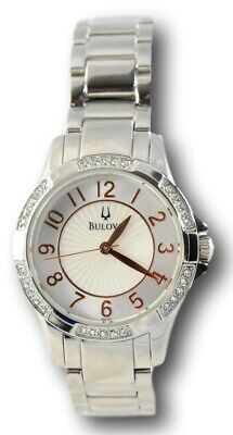 Bulova 96L161 Women's Rose Gold and Crystal Accents Stainless Bracelet Watch