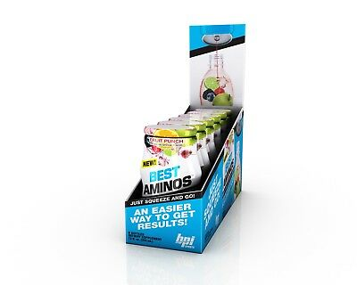 <NEW>BPI SPORTS BEST AMINOS LIQUID WATER ENHANCER 24servs 6 Bottles Zero Sugar