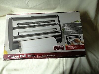 New 3 Kitchen Roll Holder Stainless Steel Design Will Be Sent Signed Recorded