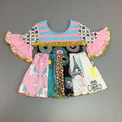W-558 Boutique Colorful Unicorn Dress (Ready to Ship From Ohio)Free Shipping