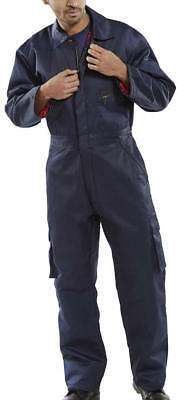 "Click Heavyweights Navy insulated quilted workwear coverall size 52"" 132cm chest"