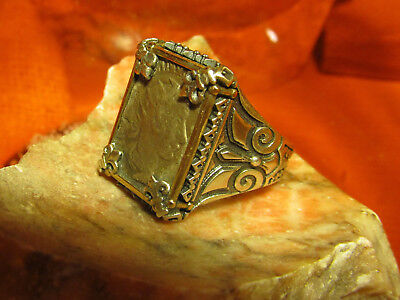 Authentic Ancient Roman Emperor Godian III Mens ring!