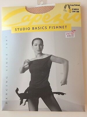 Capezio Crop Fishnet Tights Style 3409W Adult Caramel  NEW