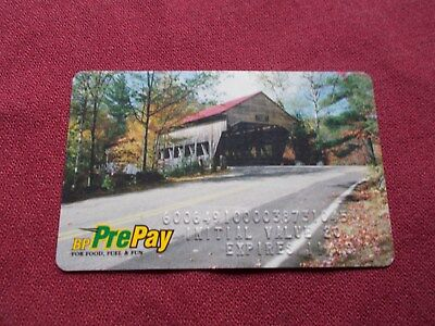 Vgt Bp Gas Oil Prepayed Credit Card Covered Bridge  (Expired) Gas Station