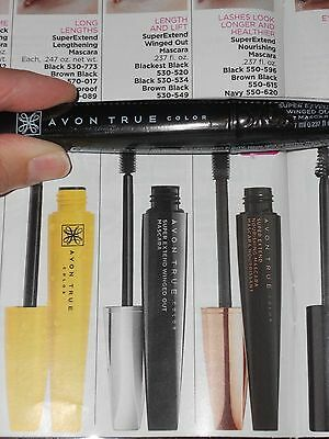 d58bba96974 AVON MAKEUP 3 Super Extend Winged Out Mascara Blackest Black $24 NEW ...