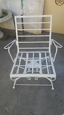 Vintage Heavy Wrought Iron Spring Chair - Two Available