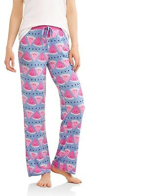 Toast & Jammies Women's Watermelon Sleep Pants with Rib Waistband Size 4-6 Small