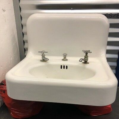 OLD ANTIQUE 1938 WHITE CAST IRON FARMHOUSE SINK by Standard Sanitary