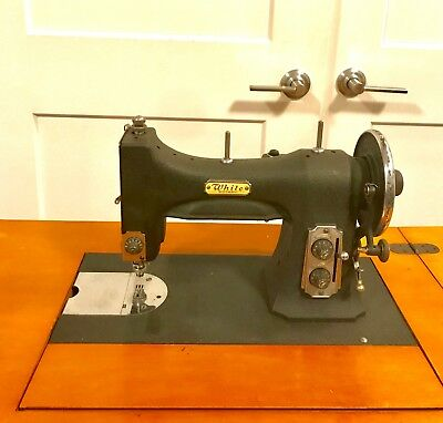 VINTAGE WHITE ROTARY Electric Sewing Machine Built In Table Stunning White Rotary Sewing Machine Table