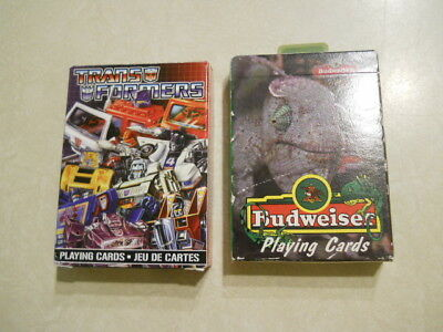 Transformer And Budweiser Playing Cards.