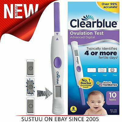 Clearblue Advanced Digital Ovulation Test Kit(OPK) 10Tests│Detects Dual Hormone│