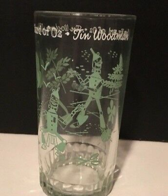 Vintage Baum Wizard of Oz Glass~Tin Woodman~ Swift Peanut Butter
