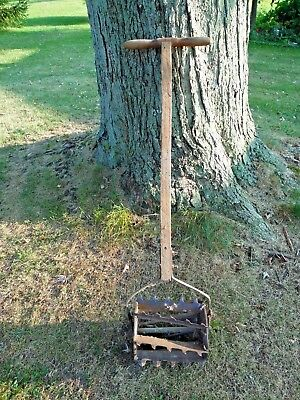 Antique late 1800's Primitive Garden Tiller Rowe MFG Co. Galesburg IL