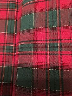 Longaberger Set of 2 Fabric Napkins - Evergreen Plaid