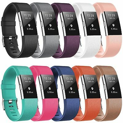 Replacement Strap Wristband Silicone Rubber Band Bracelet For Fitbit CHARGE2 HiQ