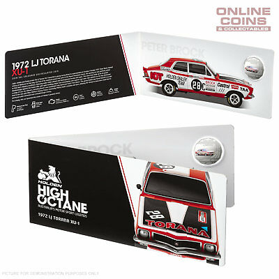 2018 HOLDEN MOTORSPORT 1972 LJ TORANA XU-1 - 50c UNCIRCULATED COLOURED COIN