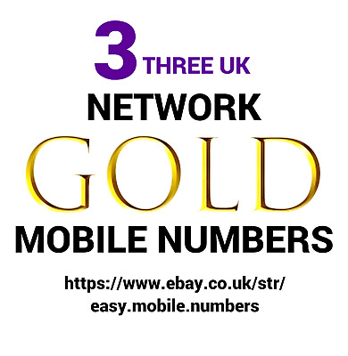 Easy Memorable + Gold Mobile Phone Numbers On Ee Pay As You Go Sim Card