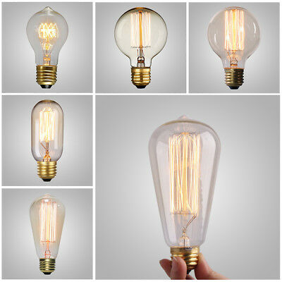 E26 40W 60W Filament Light Bulb Dimmable Bulbs Vintage Retro Edison Incandescent