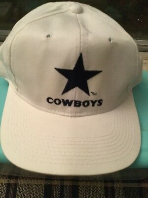 aecf9417013 Dallas Cowboys Football NFL CAP White  Blue Embroidery EUC--DISPLAY NWOT