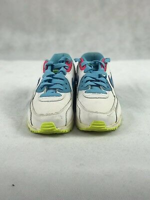 df8a9efb3b05c NEW NIKE AIR Max 90 Running Shoes White Pink Blue 345017-123 Size 6 Y