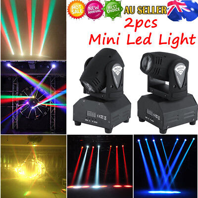 2Pcs 50W LED Moving Head Stage Light RGBW Beam Spot 11/13CH DMX Sound Control AU