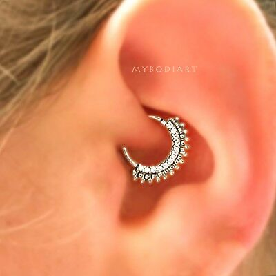661f17bc8 Daith Jewelry, Septum Ring 16g, Cartilage Earring, Rook Hoop, Helix Gold  Silver